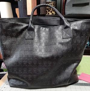 Handbags - Black Skull print tote